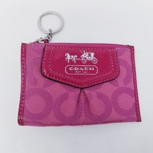 Coach | Classic Design Pink Keychain or ID Holder